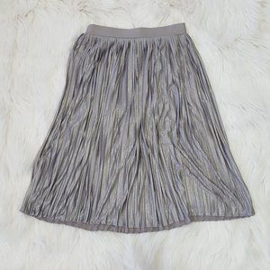 Charlotte Russe Silver Sparkly Ruched A-line Skirt